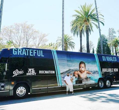 DJ Khaled Grateful Bus
