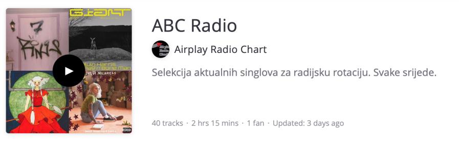 ABC Radio Playlist 001