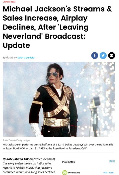 Billboard Michael Jackson Leaving Neverland