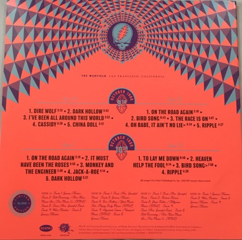 Greatful Dead Live San Francisco RSD 2019 Vinyl