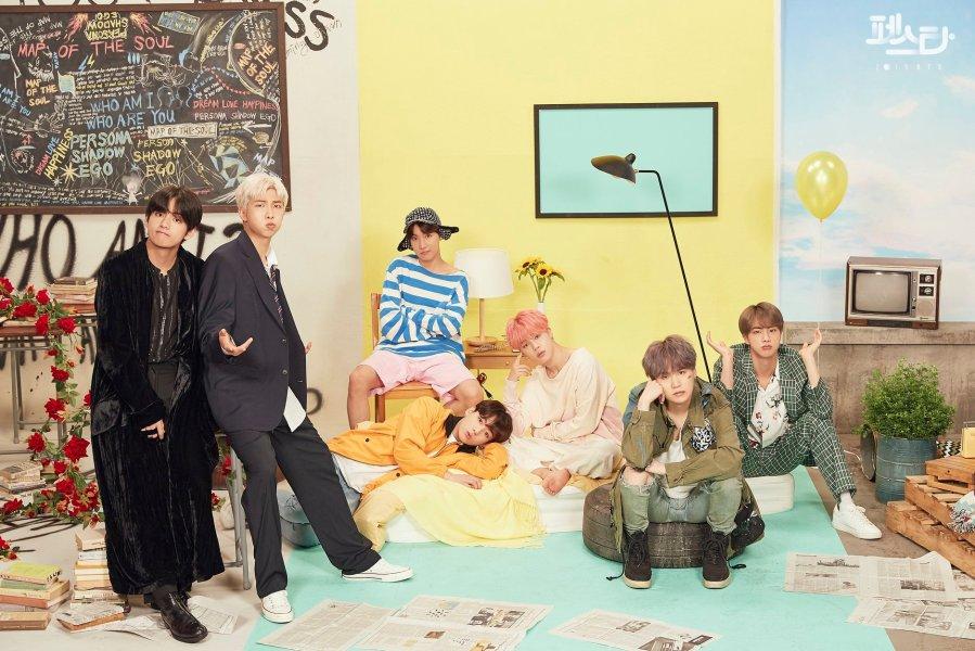 BTS Family Portrait Facebook 2019 June