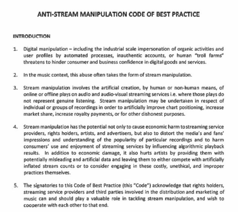 Kodeks protiv manipulacije streamingom