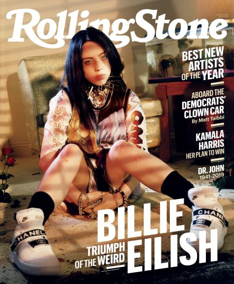 Billie Eilish Rolling Stone Cover Facebook 2019 July