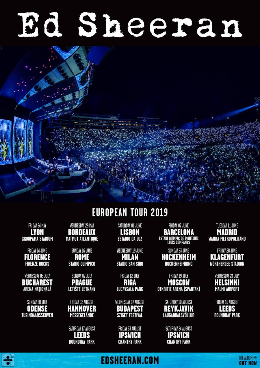 Ed Sheeran European Tour Facebook