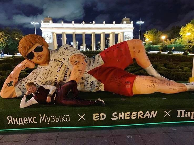 Ed Sheeran Moscow Facebook 2019 July