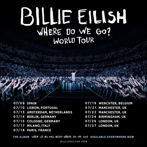 Billie Eilish Where Do We Go? World Tour Facebook 2019-09-27