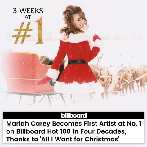 Mariah Carey All I Want for Christmas Is You Billboard 2019 December