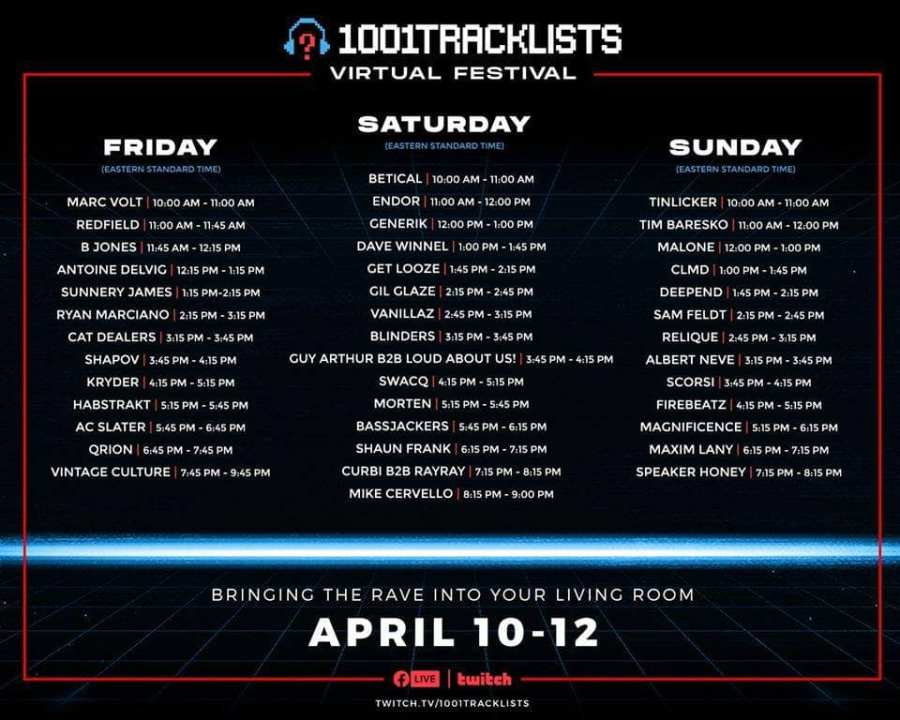 1001Tracklists Festival Schedule