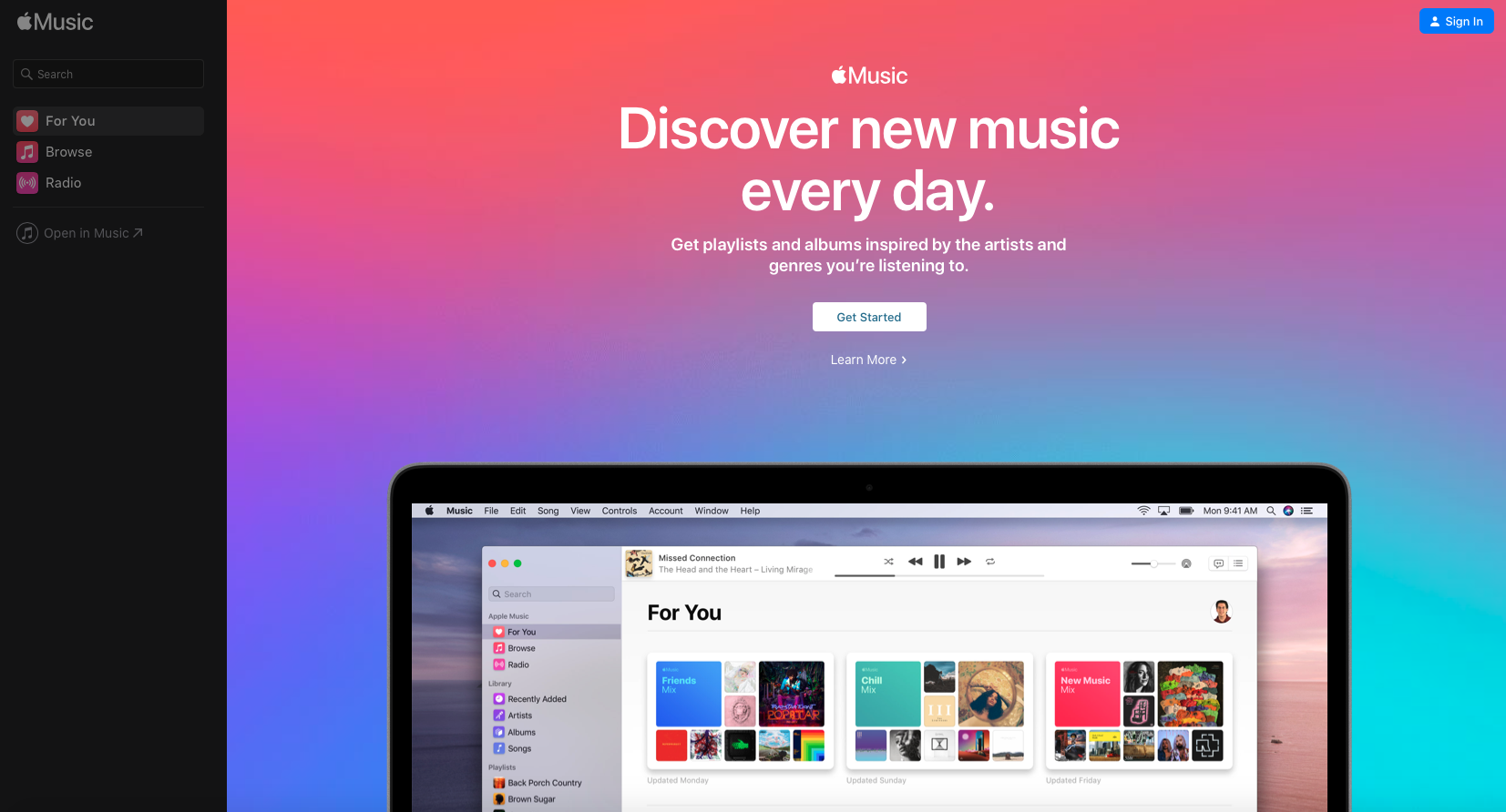 Apple Music Discover New Music Screen Shot