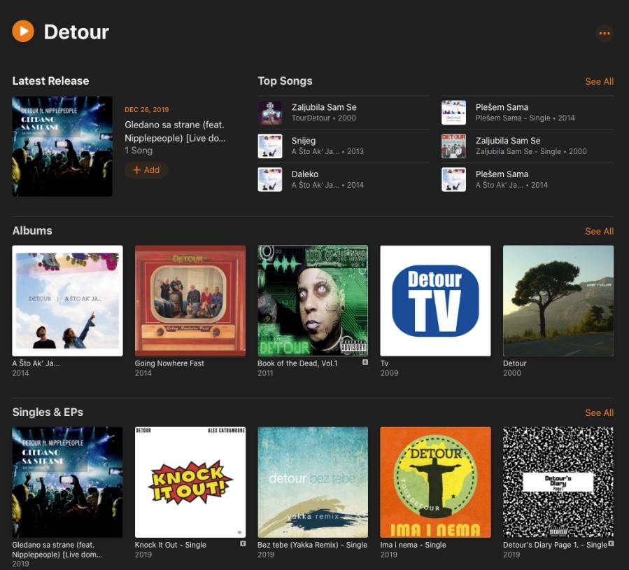 Apple Music Detour Profil
