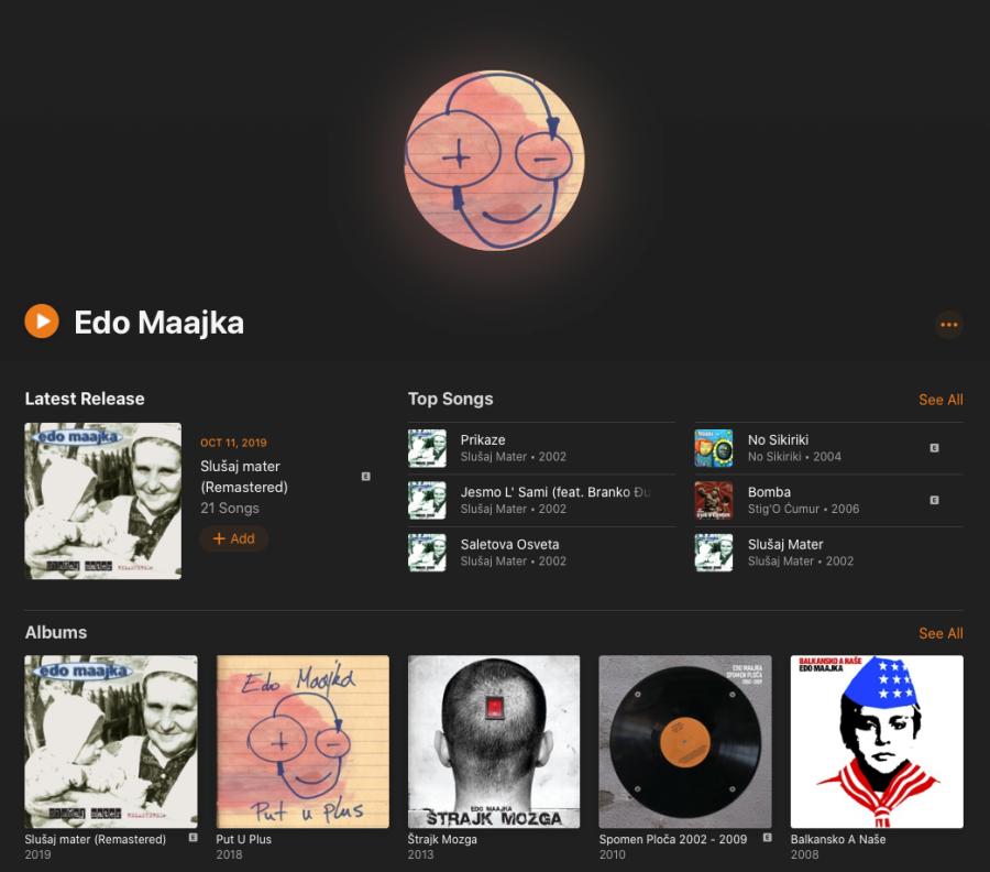 Apple Music Edo Maajka Profil