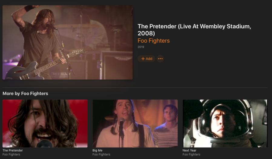 Apple Music Foo Fighters Live Screen Shot