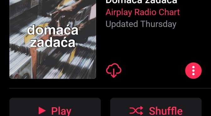 Slušajte Domaću zadaću i na servisu Apple Music